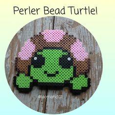 perler bead turtle by loomatic101