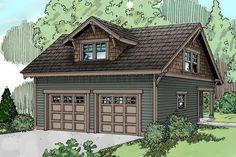 Garage Plan 59446 | Country Craftsman Traditional Plan with 865 Sq. Ft., 1 Bathrooms, 2 Car Garage