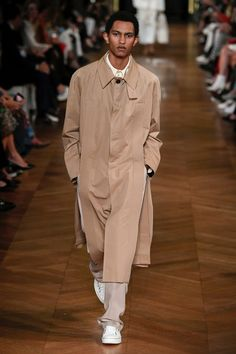 muted soft and dusty pastel beige grey , off white with accent in this neutral color palette shown on the runway, featured by BOF Business of fashion , Men featured Men's Collection, Stylish Men, Catwalk, Stella Mccartney, Ready To Wear, Normcore, Couture, Spring, How To Wear
