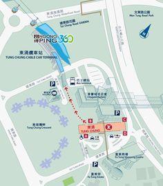 Tung Chung to Big Buddha Micro Map - Hong Kong
