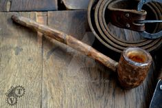 Dwarf pipe - Wooden pipe for people who like a large cloud of smoke, and a huge pint of beer. Wooden Smoking Pipes, Pipe Smoking, Tobacco Pipes, Wooden Pipe, Wooden Spoon, Pint Of Beer, The Hobbit Movies, Cigar Accessories, Home