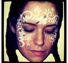 Flowers and swirls facepaint