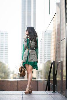 http://www.wendyslookbook.com | Emerald :: Lace dress.