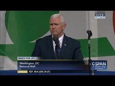 (6) Vice President Mike Pence remarks at March for Life (C-SPAN) - YouTube