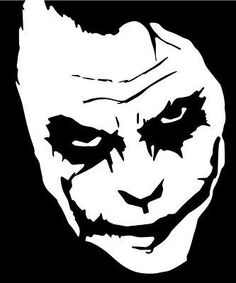 Joker Stencil Art is well-liked. It is a great way for you to redecorate your property or generate art items. Moreover stencil art will be fun. Joker Drawings, Pencil Art Drawings, Art Sketches, Joker Drawing Easy, Outline Drawings, Joker Stencil, Stencil Art, Stenciling, Joker Face