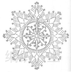 FREE DIAGRAM ~ Snowflake Ornament Diagram