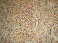 DONGHIA Fabric VICTORIA PAISLEY! buttercup JACQUARD orange red purple GOLD YUMMY | eBay
