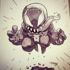 Venom commission #commission #marker #prismacolor #venom #marvel