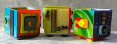 Fused Glass Boxes And Torched Candlesticks - Delphi Artist Gallery