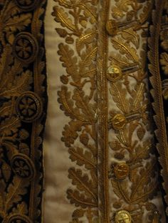 French military uniform embroidery detail
