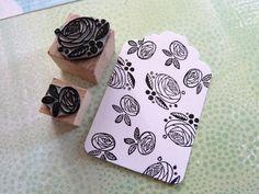 Stamp - Stempelset Rose - ein Designerstück von Pink-Bug bei DaWanda
