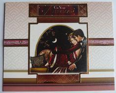 Happy Anniversary Card, Art Deco Style Card, Art Deco Inspired Anniversary Card, Couple Card, OOAK, Home Decor, 1920's, Handmade In Ireland