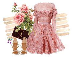 """""""Love in petals"""" by gabyidc ❤ liked on Polyvore featuring мода, Yves Saint Laurent, Elie Saab, Aquazzura и Swarovski"""