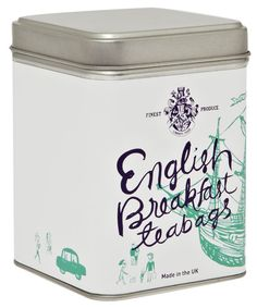 English Breakfast teabags. Packaging with unique illustrations by Meng-Chia Lai.
