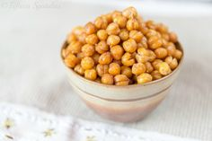Spicy Smoky Roasted Chickpeas