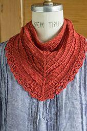 Ravelry: Seashore Kerchief pattern by Churchmouse Yarns and Teas free pattern