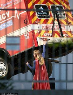 Supergirl TV show ambulance lift
