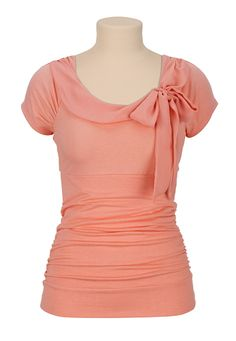 Tie Front Cap Sleeve Top available at #Maurices