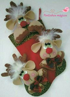 New Post xmas handicrafts Felt Christmas Decorations, Felt Christmas Ornaments, Christmas Love, Christmas Stockings, Christmas Shoes, Felt Crafts, Holiday Crafts, 242, Creations