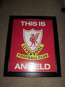 vintage liverpool fc printed poster thisis liverpool football club anfield frame