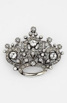 Nordstrom Crystal Crown Brooch available at - in Antique Gold Antique Brooches, Antique Gold, Antique Jewelry, Silver Jewelry, Vintage Jewelry, Jewlery, Crown Jewels, Crown Rings, Crystal Crown