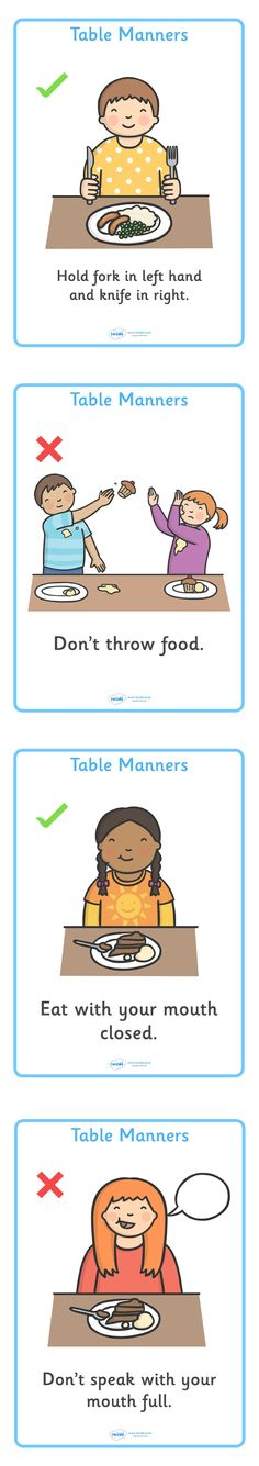 Twinkl Resources >> Table Manners Rules Display Posters  >> Thousands of printable primary teaching resources for EYFS, KS1, KS2 and beyond! table manners, rules, display, poster, sign, good manners, good behaviour, eating, food, lunch, break, table,