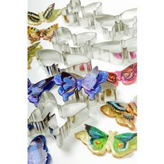 Insect & Reptile Cookie Cutters - Cookie Cutter Butterflies Set of 7, Tin