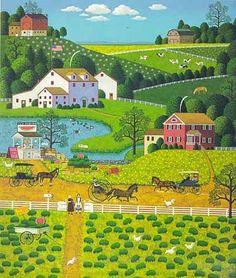 Jolly Hill Farms by Charles Wysocki