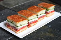 Italian Pressed Sandwich. These don't get soggy, so make them and serve at a party.