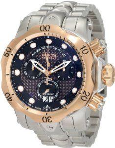 Invicta Men's 1541 Reserve Venom Chronograph Black Dial Stainless Steel Watch