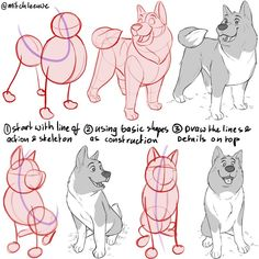 Made this dog tutorial, to show the steps with construction. Planning to do some animal tutorials when the character design book is… Character Design Challenge, Character Design Sketches, Character Design Tutorial, Character Design Girl, Character Design Animation, Character Design References, Character Drawing, Cat Character, Animation Reference