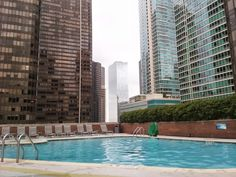 Rooftop pool at DoubleTree by Hilton Chicago - Magnificent Mile - Chicago, IL - Kid friendly hotel reviews – Trekaroo