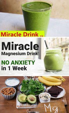 Miracle Magnesium Drink: Stop Anxiety In 1 Week - Hacks FS Herbal Remedies, Health Remedies, Natural Cures, Natural Health, Home Recipes, Healthy Recipes, Clean Recipes, Veggie Recipes, Healthy Meals