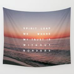 Spirit Lead Me Wall Tapestry by Zeke Tucker - $39.00