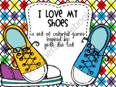 I Love My Shoes  A Colorful Set of Games Inpsired By: Pete the Cat FREEBIE from The Teaching Queen on TeachersNotebook.com (6 pages)
