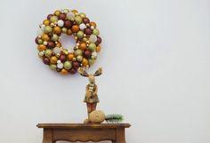 Deko-Objekte - Kranz Behaglichkeit - ein Designerstück von Mausepelzchen-kreativ bei DaWanda
