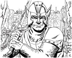"""The guards outside Krell's Gate seem to be on alert. (Ron Randall from AD&D module C4: To Find a King, """"Official Competition Adventure"""" written by Bob Blake, orginally run at Gen Con XVI, TSR, 1985.)"""