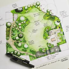 Aménagement paysager d'une terrasse - Garden Design about you searching for. Landscape Design Software, Landscape Architecture Drawing, Landscape Sketch, Landscape Plans, Garden Landscape Design, Plans Architecture, Landscaping Supplies, Backyard Landscaping, Landscaping Software