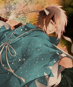 Hakuouki Shinsengumi Kitan, Okita Souji (Hakuouki), Looking Back, Shinsengumi Uniform, Two-tone Hair