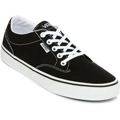 Vans Winston Womens Skate Shoes, Black (Size: 6 Medium) - Womens >... (140 BRL) ❤ liked on Polyvore featuring shoes, sneakers, vans, vans shoes, vans trainers, canvas lace up shoes, lace up shoes and skate shoes