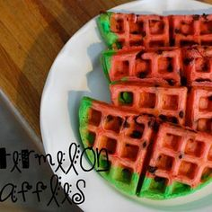 Watermelon Waffles :)