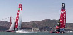 Luna Rossa: terza regata delle finali della Louis Vuitton Cup contro Emirates Team New Zealand | BLU : BLU