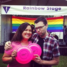 Happy #TBT from Jason and Alexis!! Here they are at PRIDE 2011. Who's excited for #TCPride 2015?!! ✋✋✋