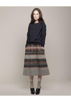 tsumori chisato | bonotto stripe skirt