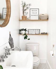Modern Boho Bathroom, Cozy Bathroom, Modern Farmhouse Bathroom, Wooden Bathroom, Small Bathroom, Bathroom Ideas, Washroom, Target Bathroom, Bathroom Inspo