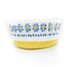 1 x 2 x 1 Mini Blue Daisy Baking Cups/Case of 1728