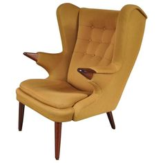 """Model 91 """"Papa Bear"""" by Svend Skipper for Skipper Mobler, Denmark, circa 1960   From a unique collection of antique and modern lounge chairs at https://www.1stdibs.com/furniture/seating/lounge-chairs/"""