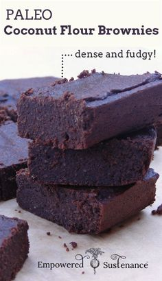 Paleo Coconut Flour Brownies - Dense and fudgy!