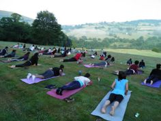 Early Morning Surya Namaskar at the Chi Kri Summer Retreat! Cobra Pose! https://www.youtube.com/watch?v=Uvl2V_P_w_M  #yoga #nature #sun #summer #Wales