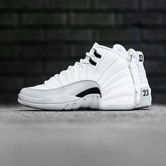 """The Air Jordan 12's major year continues this Saturday with this super clean """"Wolf Grey"""" colorway in grade school sizing."""